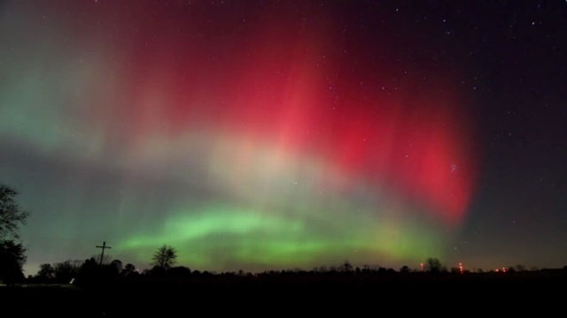 VIDEO: YouTube video shows the aurora borealis over East Martin, Mich.