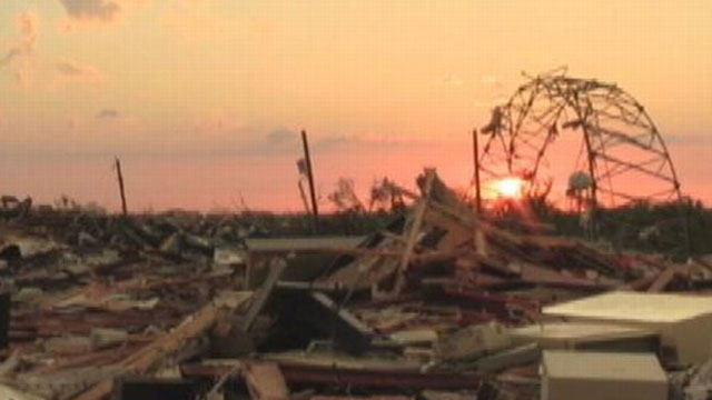 VIDEO: Up-close video of the mile-wide tornado and victim reactions from the epicenter.