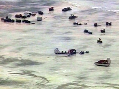 Fishermen stranded on Lake Erie