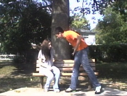 VIDEO: Would you get in the middle of a teen couple in the midst of a heated argument?
