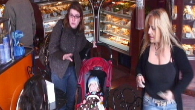 VIDEO: When a new mom leaves her baby alone, will anyone intervene?