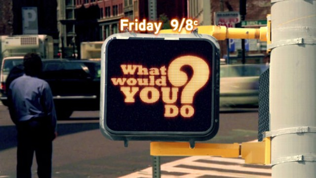 "VIDEO: John Quinones hosts ""What Would You Do?"" Friday at 9 p.m. ET."