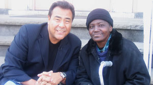 Linda Hamilton and John Quinones from What Would You Do.