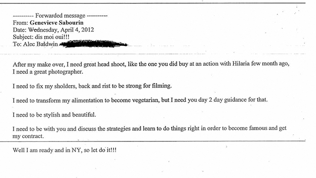 HT baldwin court documents quote 04 jef 131113 wmain See the Emails From Alec Baldwins Alleged Stalker