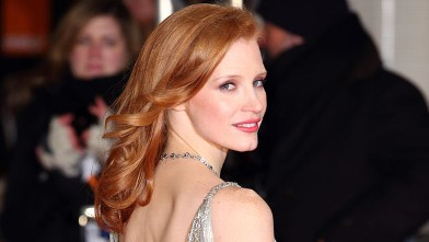 PHOTO: Jessica Chastain arrives at the Orange British Academy Film Awards (BAFTA) at The Royal Opera House on Feb.12, 2012 in London, England.