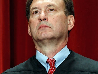 PHOTO: Associate Justice Samuel Alito Jr. poses during a group photograph at the Supreme Court building, Sept. 29, 2009 in Wash., DC.