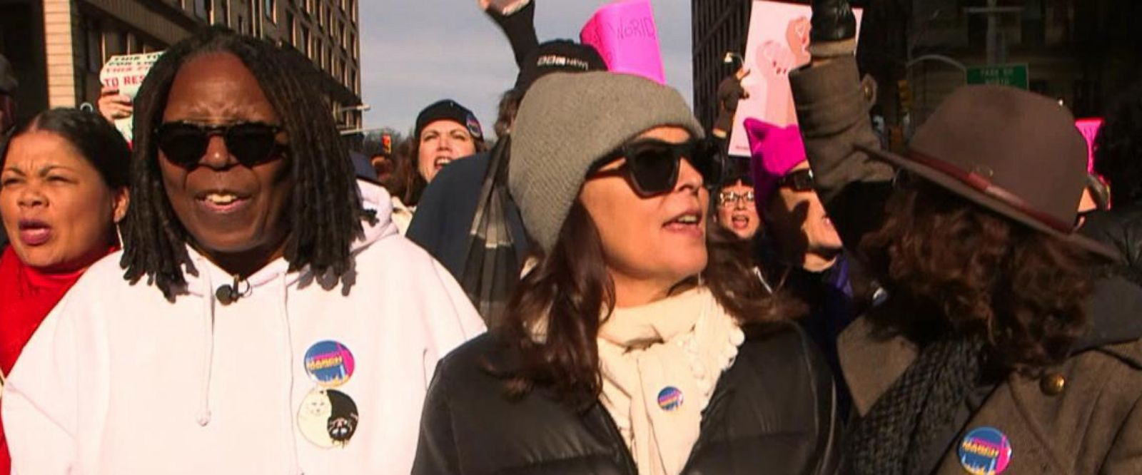VIDEO: Whoopi Goldberg joins NYC Women's March