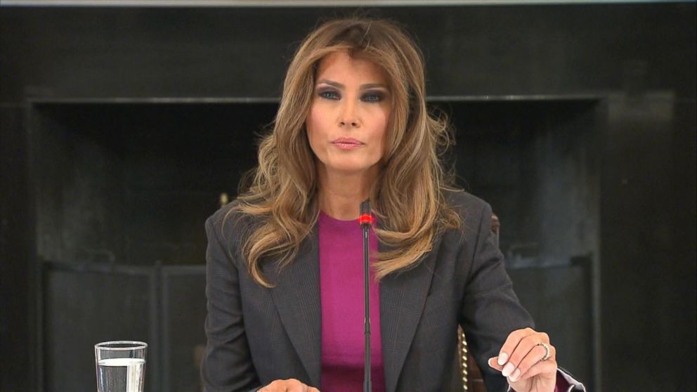 Melania  Trump  hosts cyberbullying event