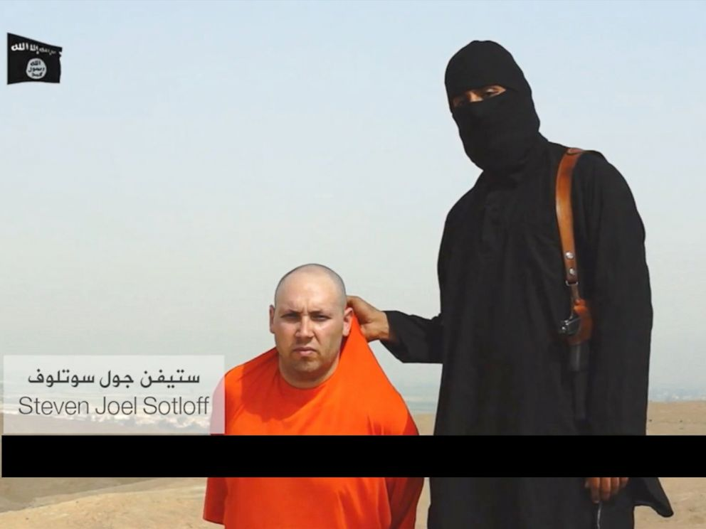PHOTO: American Steven Sotloff is threatened but left alive in a gruesome video posted online that earlier appears to show the murder of American journalist James Foley.