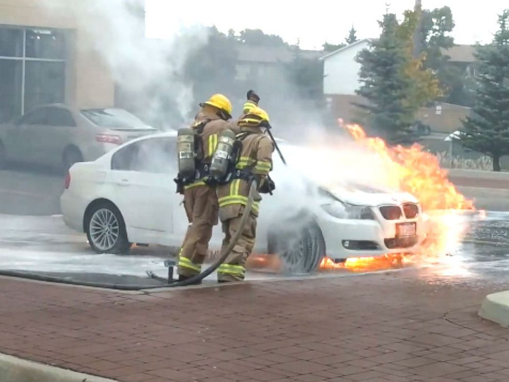PHOTO: Taz Zaide said that his 2011 BMW 3-series caught on fire about five minutes after he had parked his car to go to work.