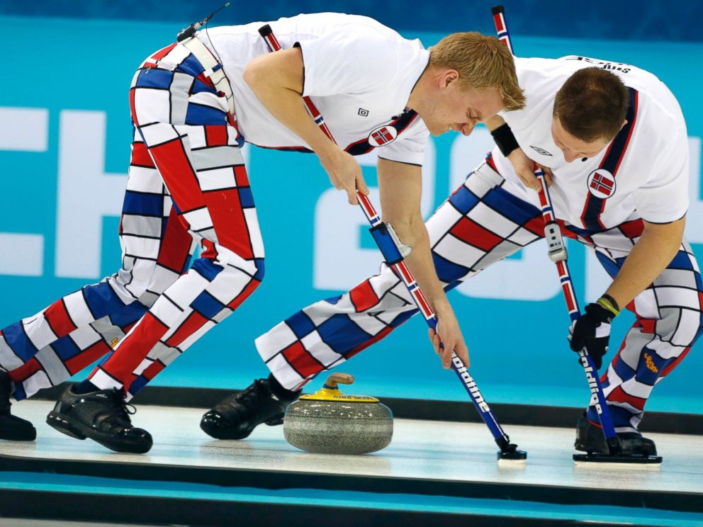 Norway's Crazy Curling Pants are Back for the 2018 Olympics