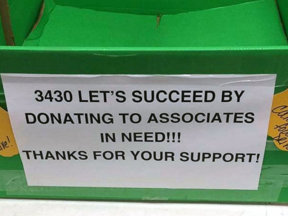 PHOTO: A Walmart worker in Oklahoma shared a photo from store #3430 of bins for food thats donated to staff.