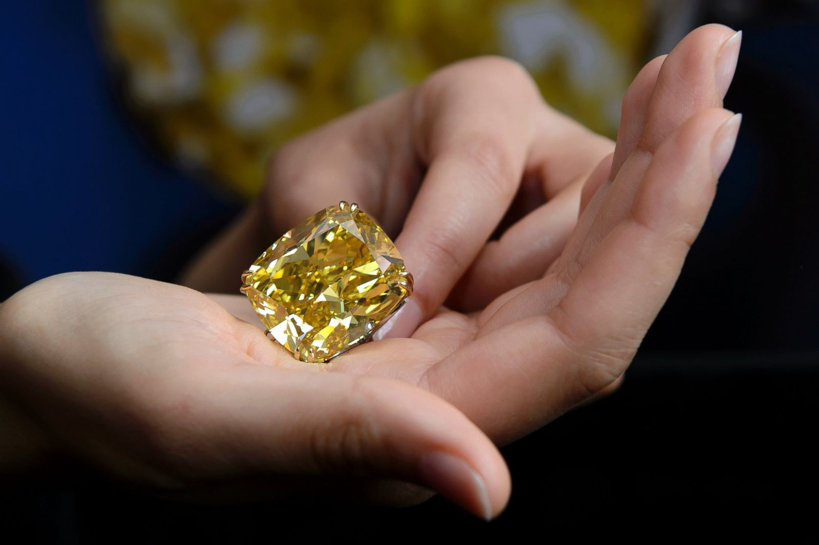 Most expensive yellow diamond ring