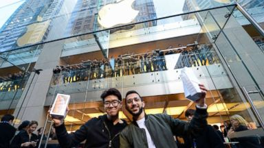 Apple's biggest, most expensive iPhone hits stores