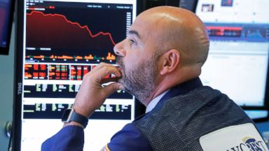Dow Jones closes down more than 800 points