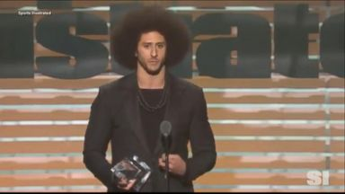 Colin Kaepernick accepts Sports Illustrated's Muhammad Ali Legacy Award