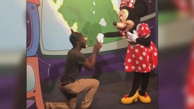 Mickey Mouse unimpressed as Minnie accepts another man's marriage proposal
