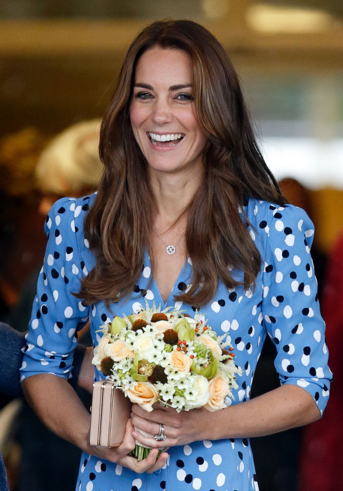Princess Kate Smiles After Meeting With Young People