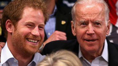 Prince Harry Cheers With Vice President Joe Biden, Jill Biden at Invictus Games