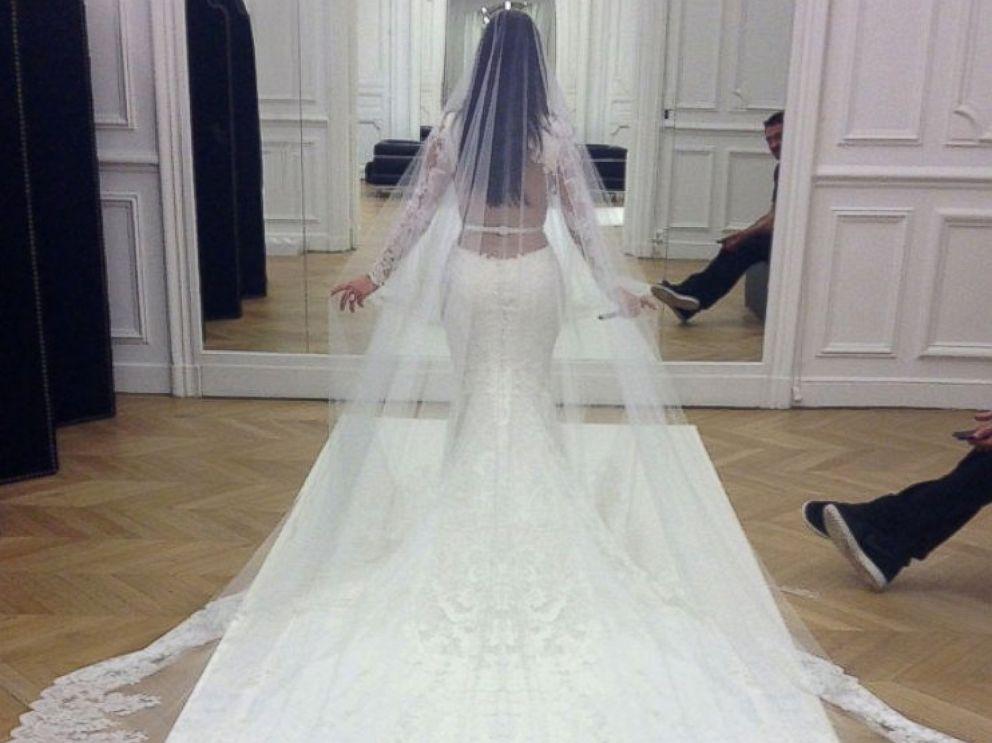 Kim Kardashian Wedding Reception Dress