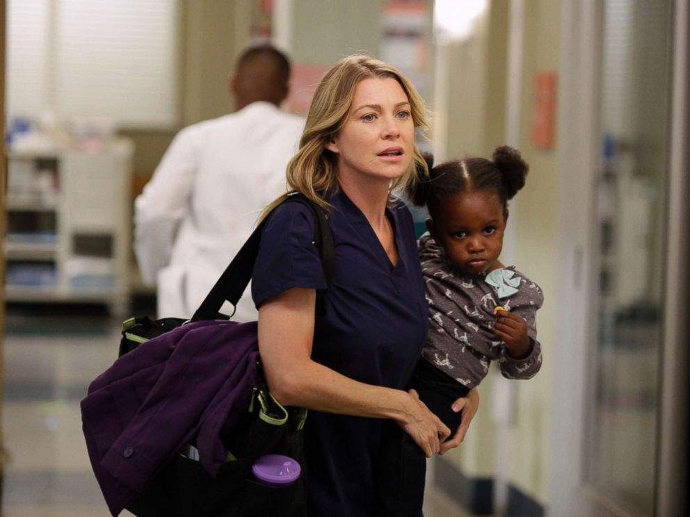 PHOTO: Ellen Pompeo in an episode of Greys Anatomy, which aired on Nov. 8, 2012, on the ABC Television Network.