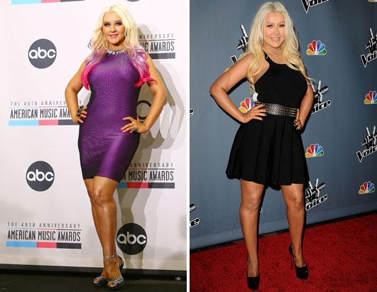 "The headline says, ""Aguilera shows off slim figure""   IGN ..."