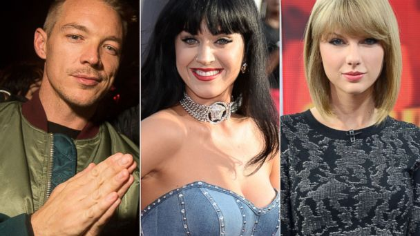 Diplo And Katy Perry >> Katy Perry Taylor Swift Feud Heats Up With Diss From Diplo