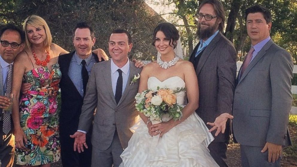 Joe Lo Truglio and actress wife Beth Dover's wedding
