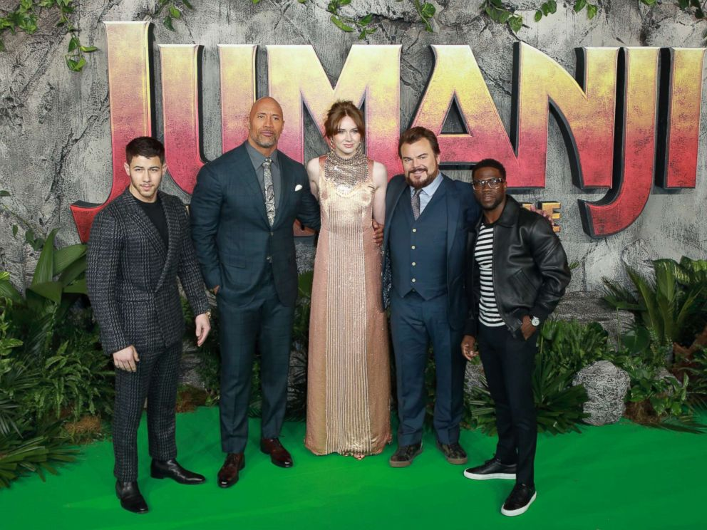 PHOTOGRAPHY: The cast of Jumanji attends the UK premiere of Jumanji: Welcome To The Jungle at Vue West End, December 7, 2017 in London.