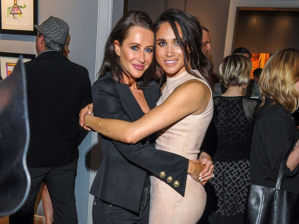 PHOTO: Jessica Mulroney and actress Meghan Markle attend the World Vision event held at Lumas Gallery, March 22, 2016, in Toronto.