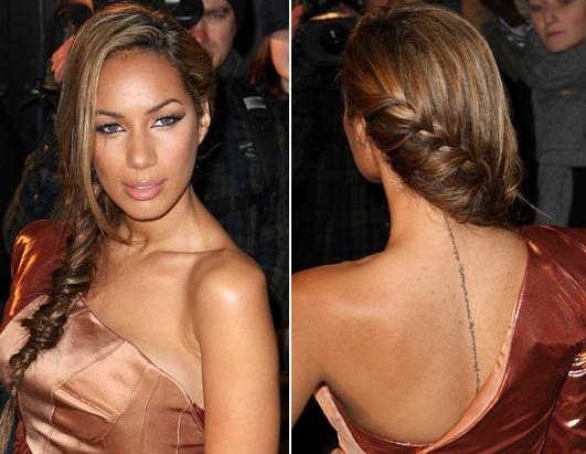 Leona lewis horseshoe tattoo
