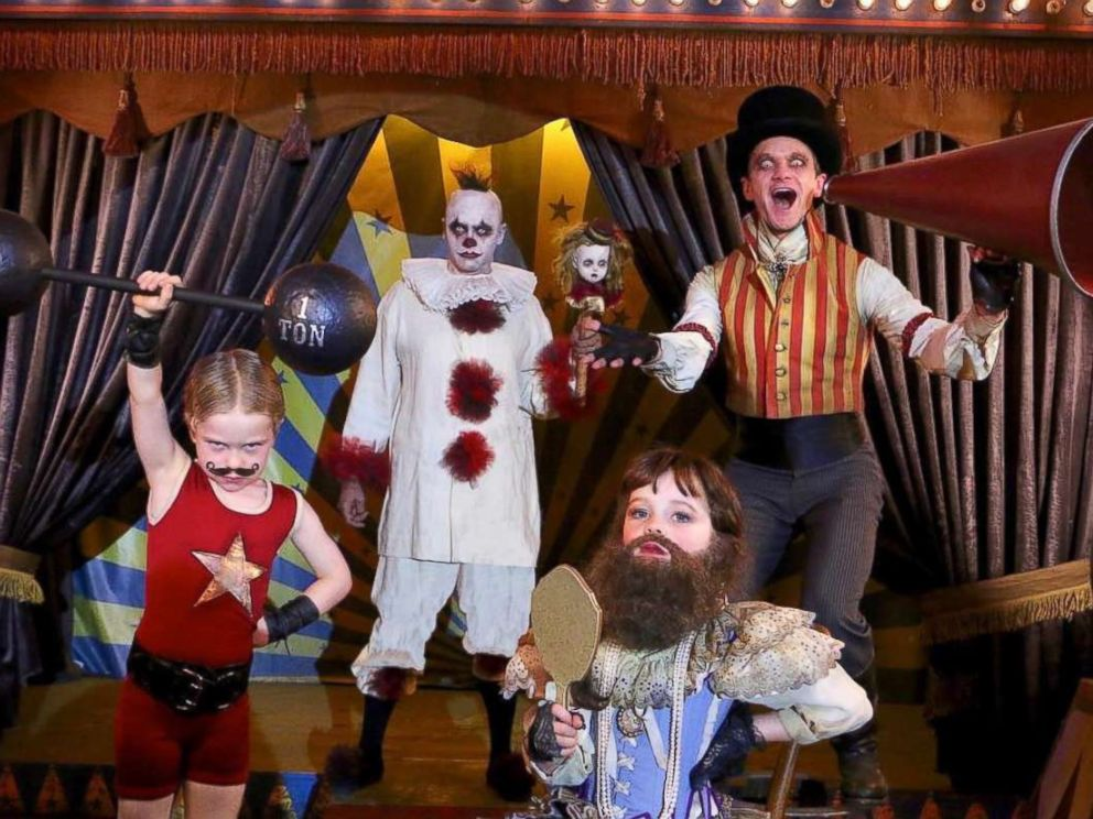 PHOTO: Neil Patrick Harris and his family dressed up as a carnival performers.