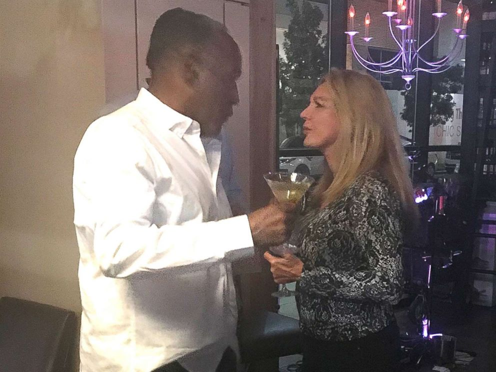 PHOTO: O.J. Simpson holding a martini glass at Grape Street Wine Bar and Cellar on Oct. 13.