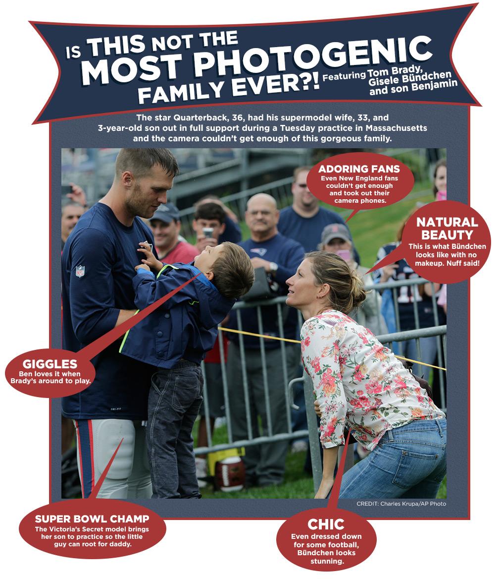 Tom Brady, Gisele Bündchen with Son | Most Photogenic Family Ever