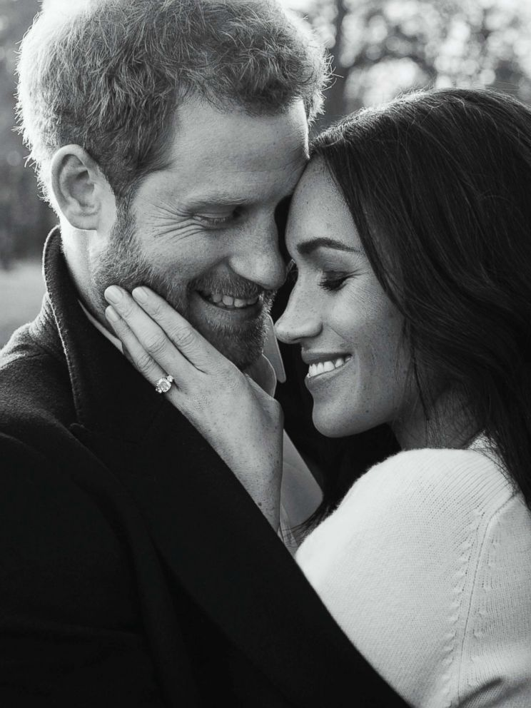 PHOTO: In this photo released by Kensington Palace, Dec. 21, 2017, Britains Prince Harry and Meghan Markle pose for one of two official engagement photos, at Frogmore House, in Windsor, England.
