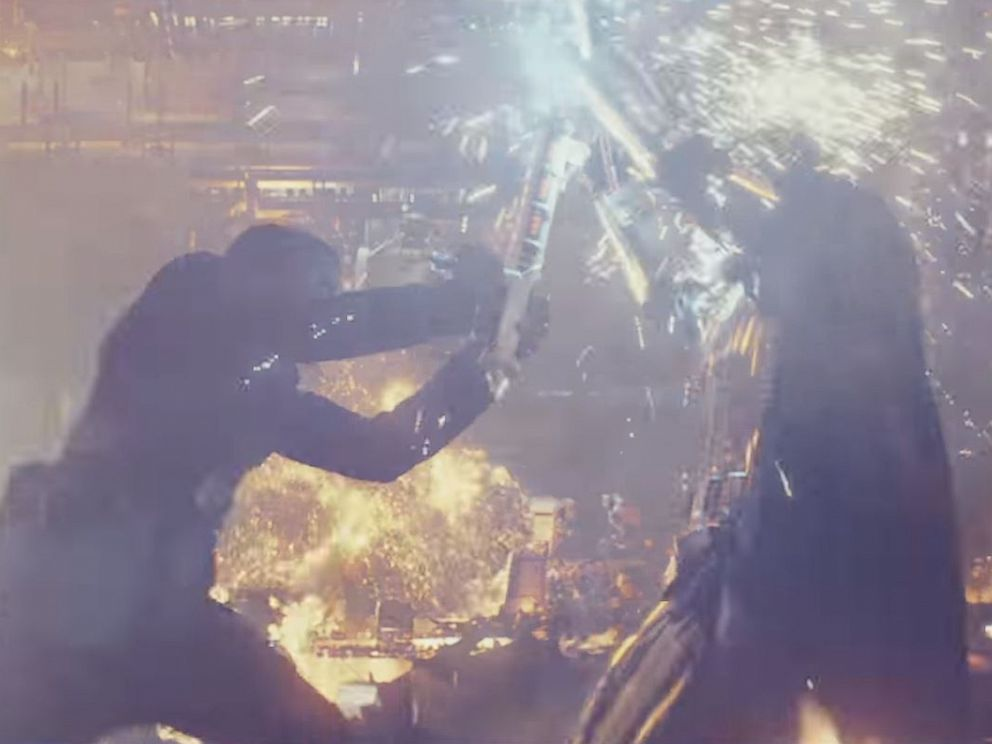 PHOTO: John Boyega, as Finn, in a scene from Star Wars: The Last Jedi official trailer.