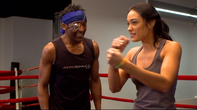 Victoria S Secret Models Boxing Workout Video Abc News