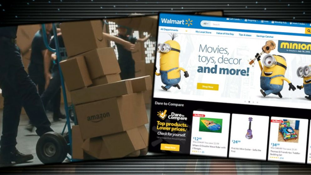 walmart fires back at amazon 39 prime day 39 deals video abc news. Black Bedroom Furniture Sets. Home Design Ideas