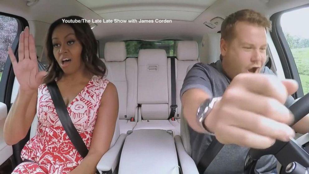 Michelle Obama Joins James Corden in 'Carpool Karaoke' Video