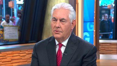 Rex Tillerson defends US response to North Korea, Russia
