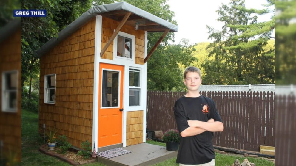Tiny Home Designs: Teen Builds Tiny House In Family's Backyard Video