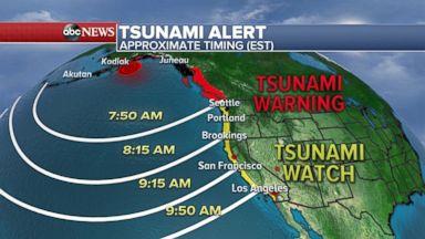Tsunami warning in Alaska after powerful earthquake