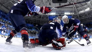 Team USA goes for gold on the ice in South Korea