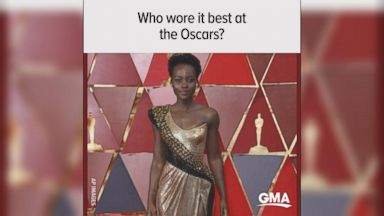 The Oscars' best-dressed in a minute