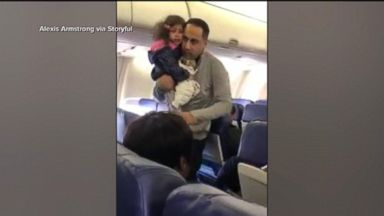 Father, young daughter were ordered to get off a plane