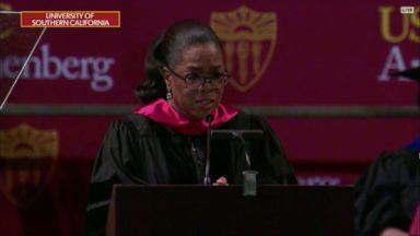 Oprah Winfrey, Tim Cook send powerful messages to grads