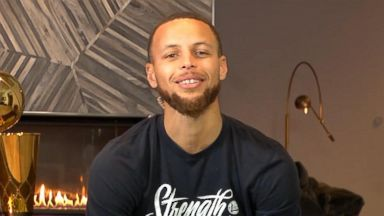 'GMA' Hot List: Steph Curry shares how he celebrated his NBA Finals win