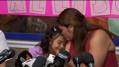 6-year-old girl heard crying on viral tape reunited with mother
