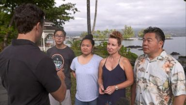 Family describes being hit by 'lava bomb' aboard boat