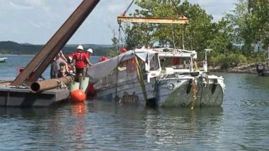 Duck boat wreckage retrieved from lake days after fatal disaster